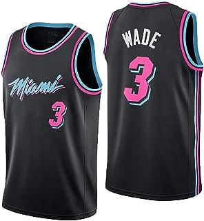 d991f781828d2 LHWLX Jersey Miami Heat No. 3 Wade Uniforme De Basket-Ball Top pour Les