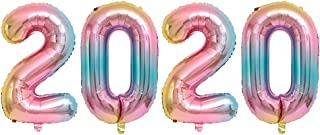 40Inch Rainbow 2020 Foil Balloons Aluminum Mylar Helium Balloons for New Year Graduation Balloons Wedding Birthday Party Photo Prop Supplies (Rainbow)