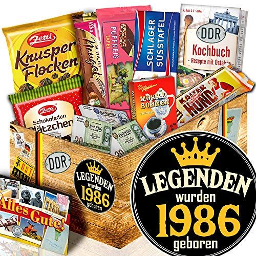Legenden 1986 / DDR Korb Schokolade / Geschenkbox 1986
