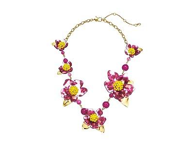 Kate Spade New York Botanical Garden Resin Statement Necklace (Pink Multi) Necklace