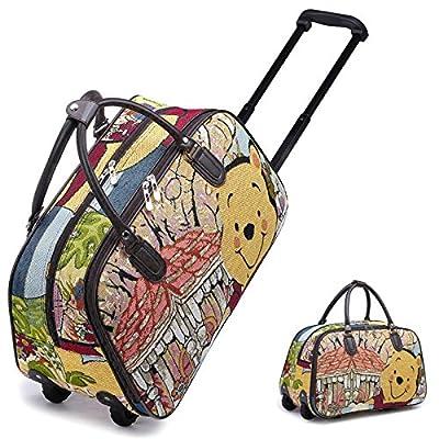 Disney Funky Winnie Pooh Vintage Holdall Trolley Bag Hand Luggage Travel Size