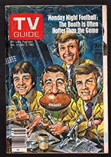 TV Guide November 29-December 5, 1980 (Howard Cosell and Cast of Monday Night Football: The Booth Is Often Hotter Than The Game, Volume 28, No. 48, Issue #1444)