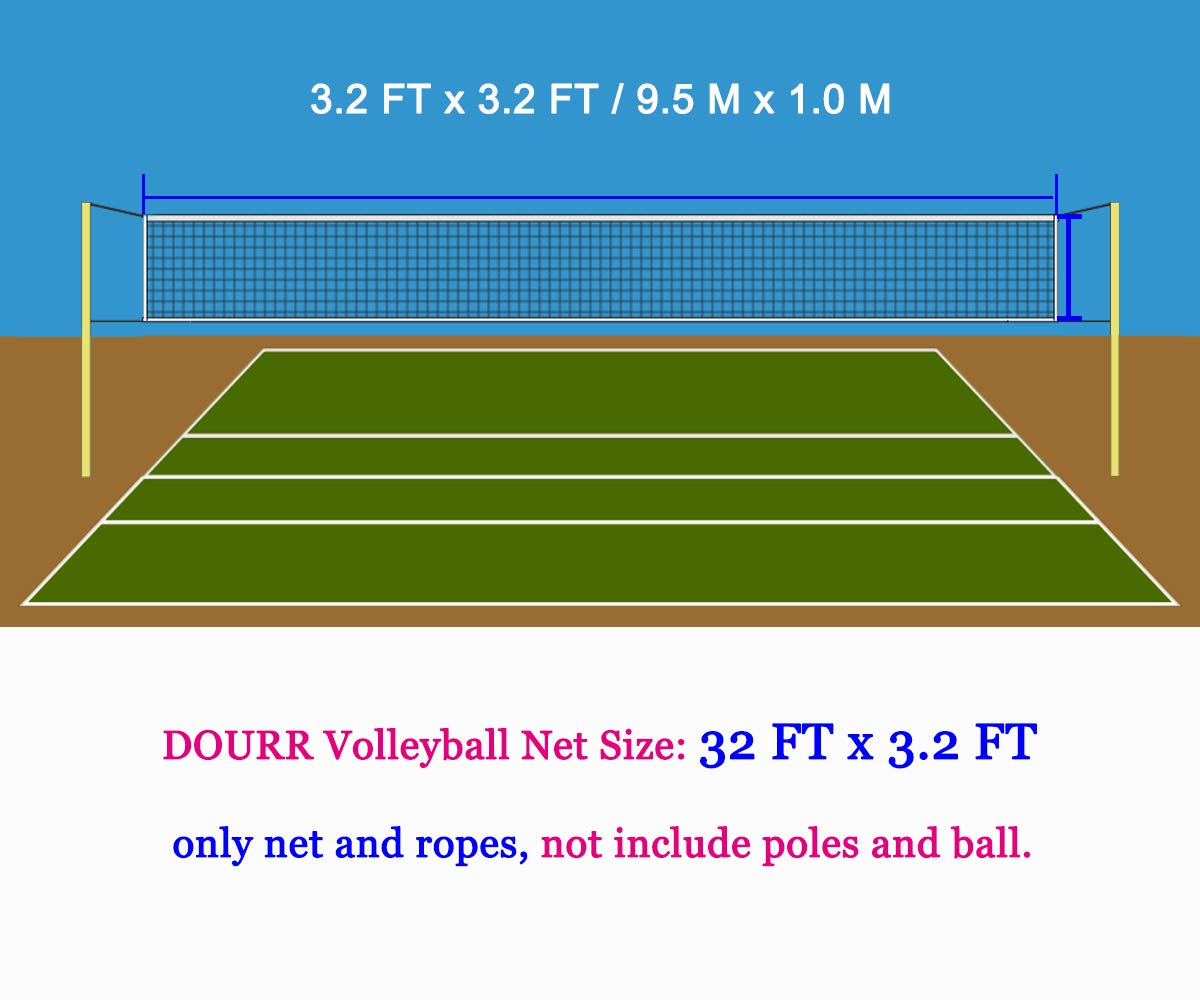 Dourr Professional Sports Volleyball Net 32 Ft X 3 Ft For Indoor And Outdoor Net Only Amazon Sg Sports Fitness Outdoors