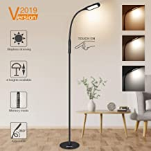 LED Floor Lamp, SOLMORE LED Reading Lamp 3 Colors Temperatures Dimmable Reading Standing Lamp Height Adjustable Flexible Gooseneck Touch Control for Living Room Bedroom Office