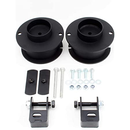 2 Inch Front and 1 Inch Rear Carbon Steel Spring Spacers with Shock Relocation Brackets Liftcraft Fits 2014-2020 Dodge Ram 2500 4WD Lift Kit