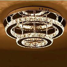 Moderne plafondlamp van kristalglas, 36 W, warm wit, perfect voor hal, trap, slaapkamer, eetkamer