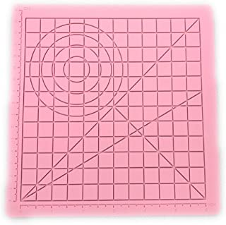 3D Pen mat,3D Printing Pen Silicone Design Mat with Basic Template, with 2 Silicone Finger Caps, Drawing Tools 3D Pen Accessory Drawing mat for Kid or Adults Libra Gemini (Pink)