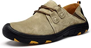 Asifn Men's Leather Loafers Slip-Ons Casual Oxford Shoes Driving Flats Outdoor Walking Fashion Hiking