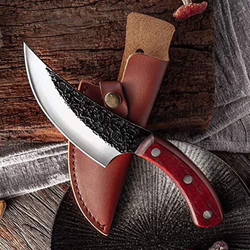 Mrjg Sushi Cuchillo Forjado de Acero al Carbono de Alta Cuchillo de deshuesar Hechos a Mano Cuchillos de Cocina Pesca Cuchillo de Carnicero Acampar al Aire Libre Que Cocina la Herramienta