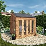 Waltons Wooden Garden Summerhouse 8x8 Outdoor Garden Room, Sunroom, Reverse Apex Roof (8 x 8 / 8Ft x 8Ft)