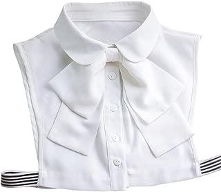 Korean Women White Detachable Bow False Shirt Doll Collar Blouse Dickey
