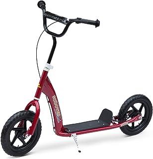 comprar comparacion HOMCOM Patinete Scooter 2 Ruedas 12 Pulgadas Monopatín para Niños y Adultos Manillar Ajustable con Freno y Caballete Carga...
