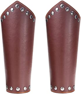 Genuine Leather Dragonscale Medieval Armor Costume Knights Leather Battle Arm Guard Bracers
