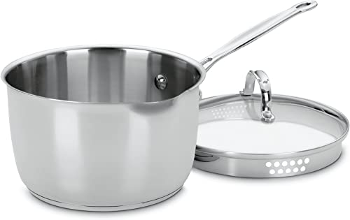 discount Cuisinart 7193-20P Chef's Classic Stainless 3-Quart Cook and Pour Saucepan with sale high quality Cover online