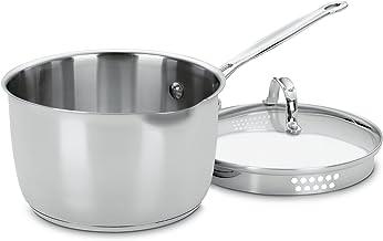Cuisinart Chef's Classic Stainless Steel Pour Saucepan 3-Quart Silver