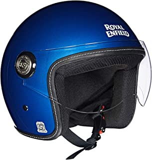 Royal Enfield Blue Open Face with Visor Helmet Size (XL)62 CM (RRGHEI000036)