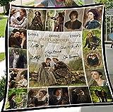 Outlander, EU0136 Quilt Blanket & Quilt Bedding Set, Comfort Warmth Soft Cozy Air Conditioning Machine Wash Fleece Blanket.