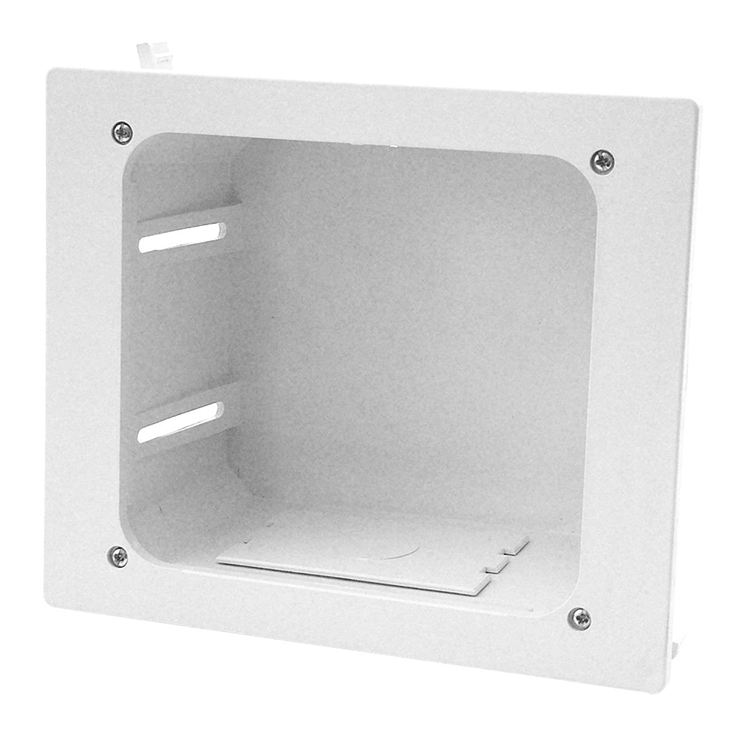 Construct Pro In-wall Recessed Entertainment Box, White