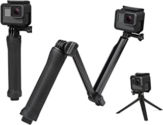 YANTRALAY SCHOOL OF GADGETS 3-Way Monopod Grip Arm Tripod Foldable Selfie Stick, Stabilizer Mount Holder for GoPro Hero 7/6/5, SJCAM SJ6, SJ7, SJ5000, Yi and All Action Cameras (Black)