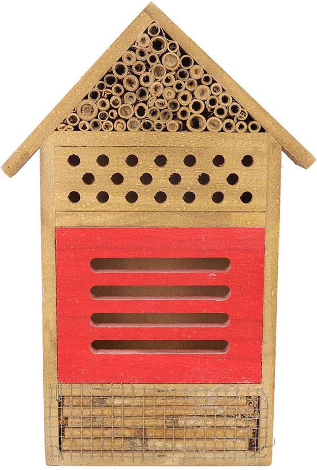 EVTSCAN Wooden Bee House Wood Room Decor Max OFFer 50% OFF Shelter Garden Ne Hotel