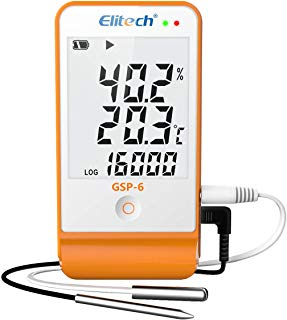 Elitech GSP-6 Temperature and Humidity Data Logger Recorder 16000 Points Refrigeration Cold Chain