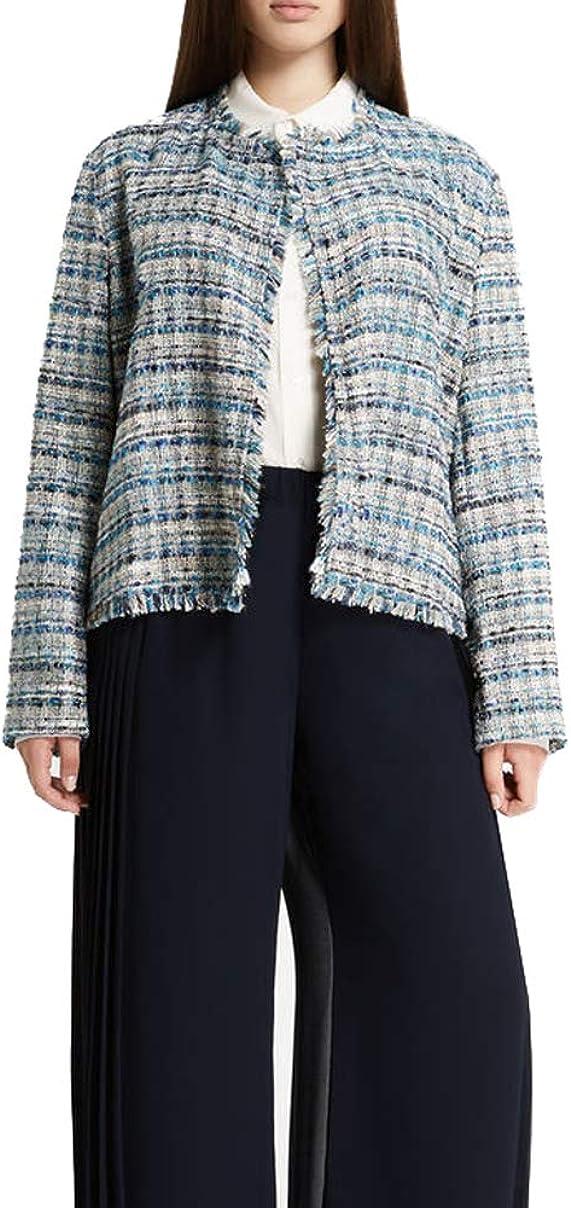 MARINA RINALDI Women's Cancan Woven Jacket, Turquoise