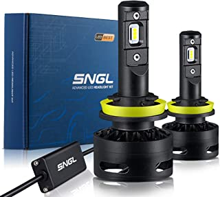 SNGL FocusBeam-S LED Headlight Bulbs H9 High Beam - 6000K Cool White