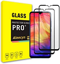 Screen Protector for Xiaomi Redmi Note 7 / Note 7 Pro [2 Pack] [Anti-Scratch, Bubble Free, 3D Touch Compatible, Case-Friendly] 9H Tempered Glass Screen Protector Black