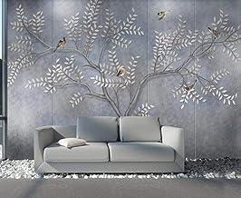 Behang 3D Behang Muurschilderingen Bloem Vogel en Boom Art Muurschildering 3D Slaapkamer Behang voor Woonkamer Muur Papier...