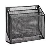 Honey-Can-Do OFC-06208 Mesh Vertical File Sorter, 3.6 x 12.6 x 11.5, Black...
