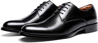 Men's Derby Oxford Shoes Lace up Leather Business Dress Shoes