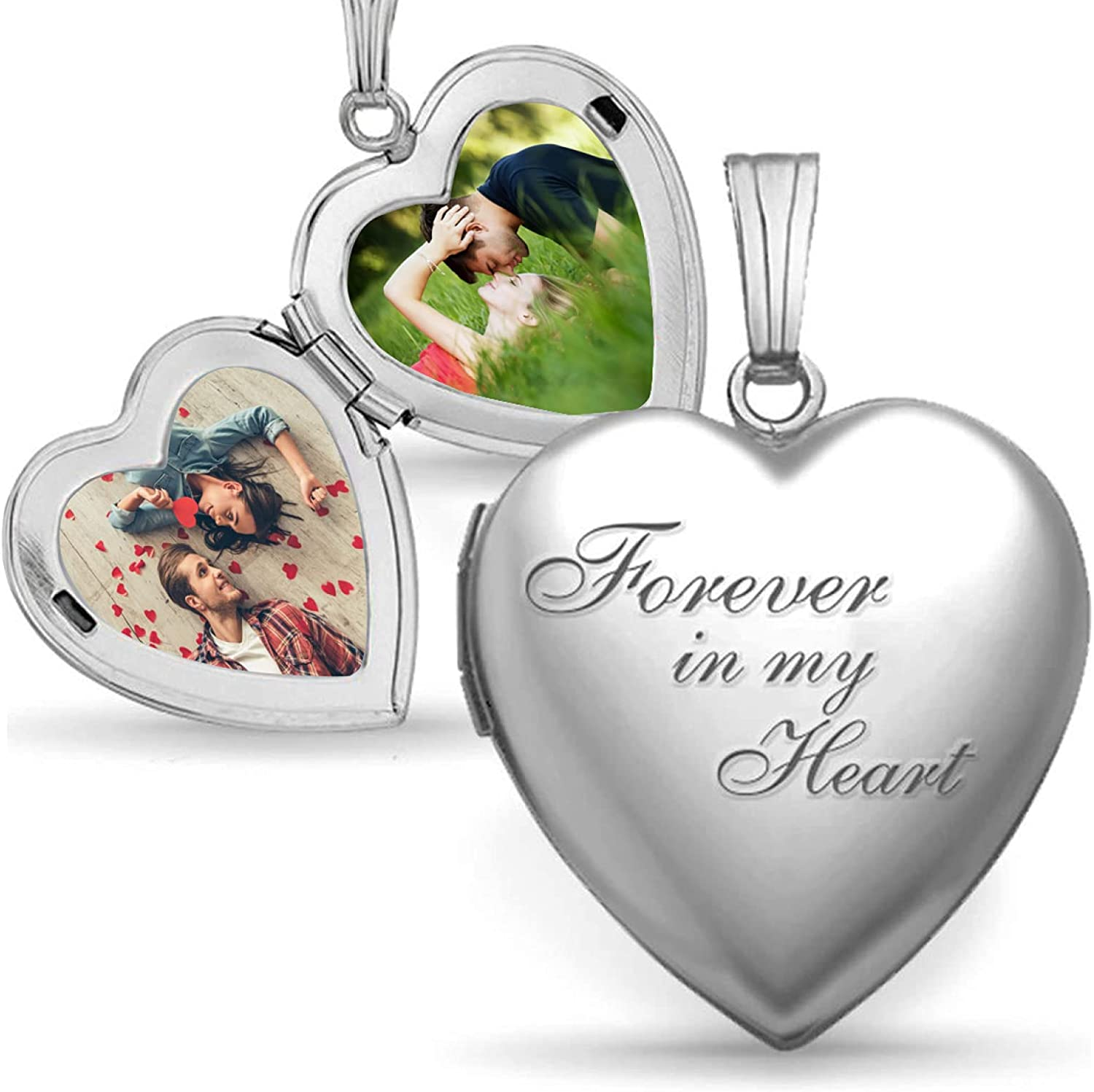 Custom Don't miss the campaign Personized Daily bargain sale Locket Necklaces That Holds wor Love Photo and