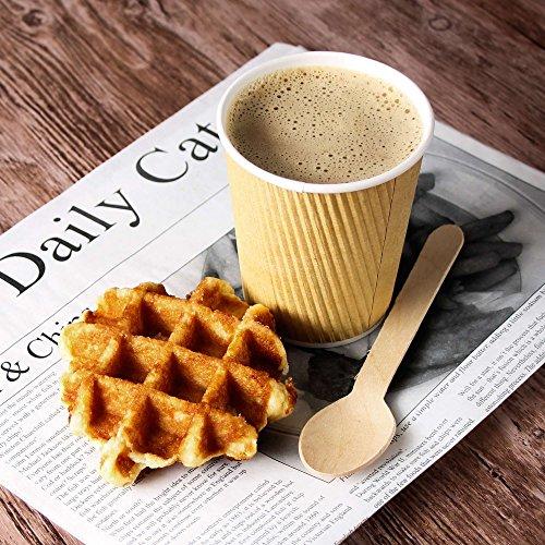 Kraft Ripple jetables Gobelets à Café 227 g/230 ml – Lot de 500 – Gobelets à café jetables