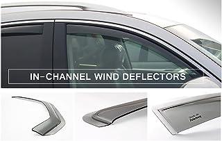 DGWV2-822 Outside Mount Deflector Rain Guard Dark Smoke Tuningpros Window Visor Compatible With 2015-2016 Lexus NX200t NX300h NX300 4 Pcs Set
