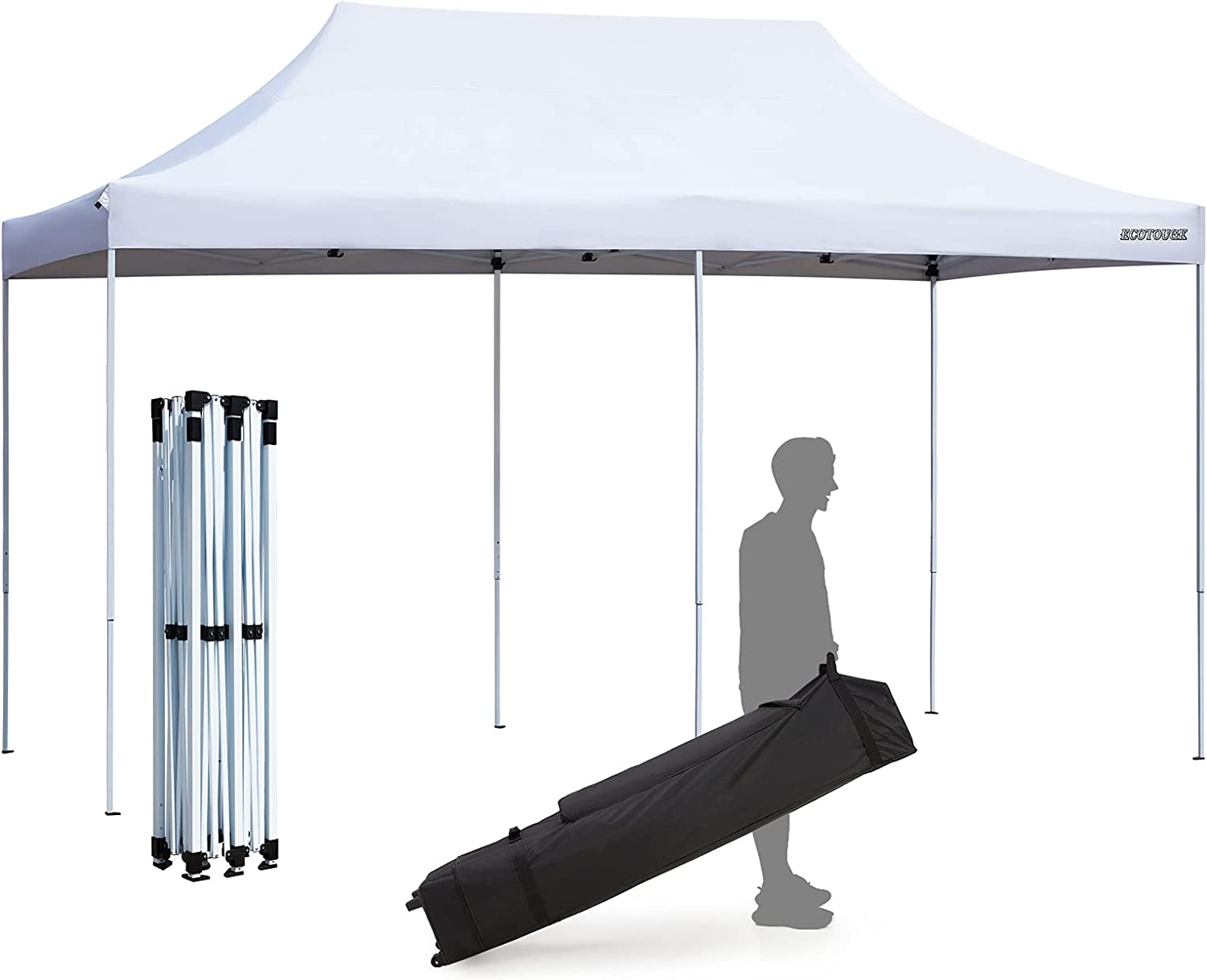 ECOTOUGE 10x20 Ft Popup Canopy Outlet SALE Tent Wedding Party Gazebo Minneapolis Mall Shelter