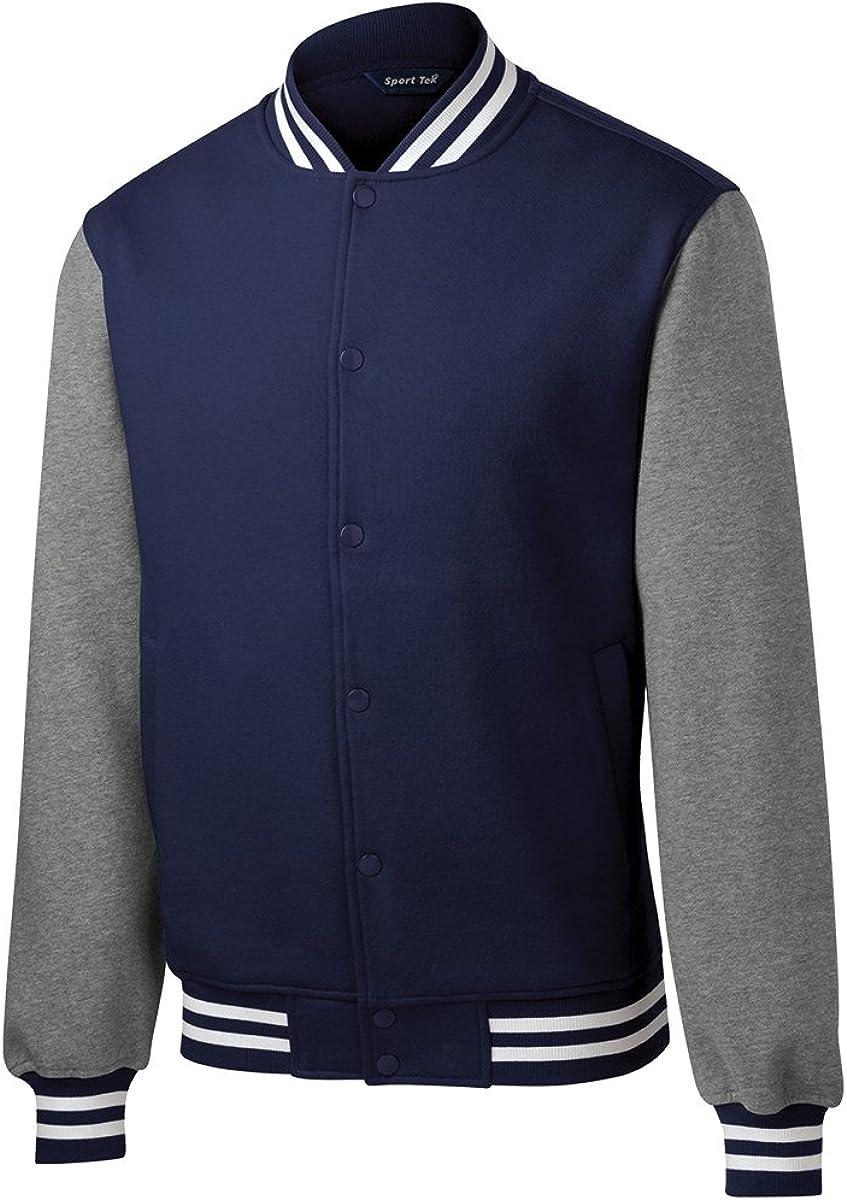 Men's Classic Fleece Letterman Varsity Jacket