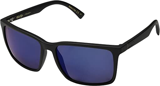 Black Satin Wild Blue Chrome Polarized Plus