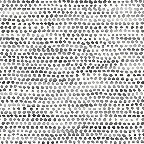 Tempaper MD10642 Moire Dots Removable Peel and Stick Wallpaper, Black & White