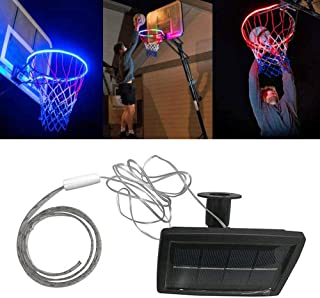Lesgos Light Up Basketball Hoop, LED Solar Power Basketball Hoop Lights, Waterproof Super-Bright to Play Longer Outdoors for Kids, Adults, Parties and Training