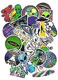 SET PRODUCTS Top Pegatinas ! Juego de 50 Pegatinas de Extraterrestre Alien Vinilos - No Vulgares - Divertido - Personalización Portátil, Auto, Moto, Laptop, Pc