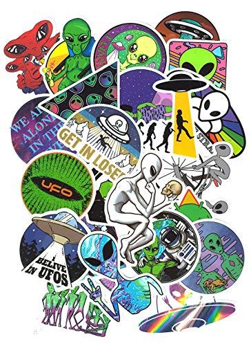 SET PRODUCTS Top Adesivi ! Lotto di 50 Adesivi Alieno - Stickers Vinili - Non Volgari di Alta qualità - Fashion, Stile, Bomb - Personalizzazione Computer, Laptop, Valigie, Moto, Bici, Scrapbooking
