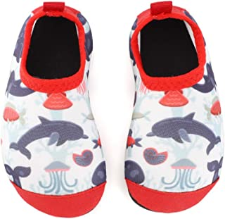 TIZAX Kids Water Shoes Toddler Quick Dry Water Shoes Boys Non-Slip Barefoot Beach Swim Shoes