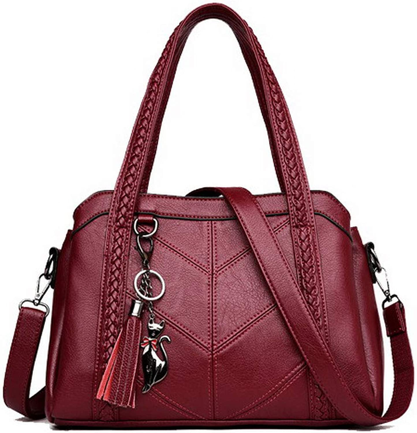 WeenFashion Women's Tote Bags Casual Zippers PU Crossbody Bags,AMGBY181595