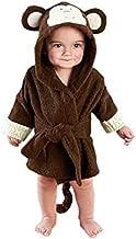 mainaisi bebé toallas de albornoz con capucha de algodón Cartoon Animal Wrap para bebé 0–3años mono Talla:0-3Years