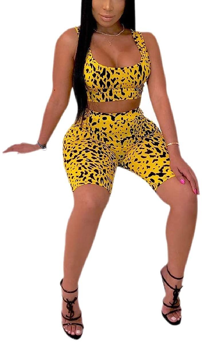 逆友だち準備した女性モト印刷bodycon 2つのPC服装作物トップ服装ショーツセット