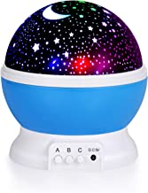Kids Star Night Light, 360-Degree Rotating Star Projector, Desk Lamp 4 LEDs 8 Colors Changing with USB Cable, Best for Children Baby Bedroom and Party Decorations