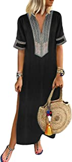 GOSOPIN Women Summer High Waist A-Line Button Denim Mini Dress