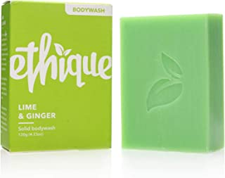 Ethique Eco-Friendly Bodywash Bar, Lime & Ginger, Sustainable Natural Bodywash Bar for All Skin Types, Plastic Free, Vegan...