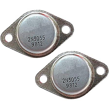 Gazechimp 2 Pcs 2N3055 NPN Transistor 100V 15A 110 W herramienta de jardineria casa hogar