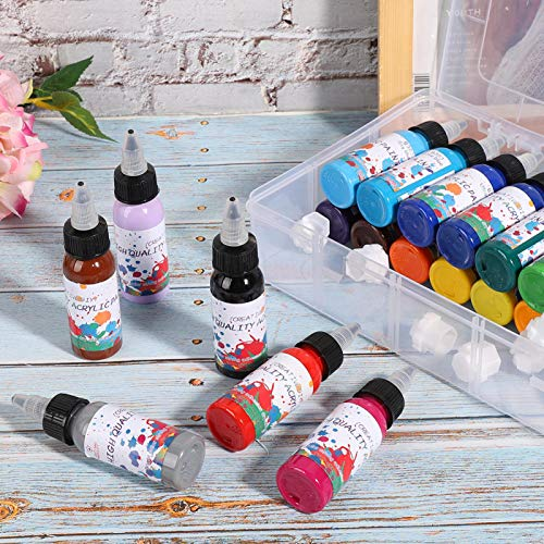 24 diferentes colores pintura acrílica pigmento de pintura acrílica juego de pigmentos de pintura acrílica para pintar lienzo